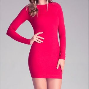Bebe Quarter Sleeve Bodycon Dress